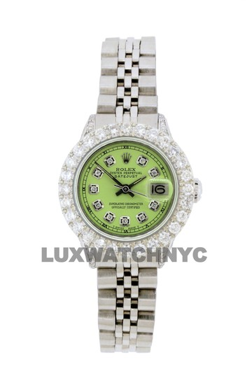 Preload https://img-static.tradesy.com/item/25771045/rolex-green-dial-28ct-ladies-26mm-datejust-stainless-with-appraisal-watch-0-0-540-540.jpg