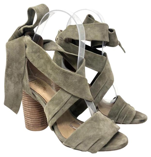 RAYE Grey Maggie Suede Sandals Size US 6 Regular (M, B) RAYE Grey Maggie Suede Sandals Size US 6 Regular (M, B) Image 1