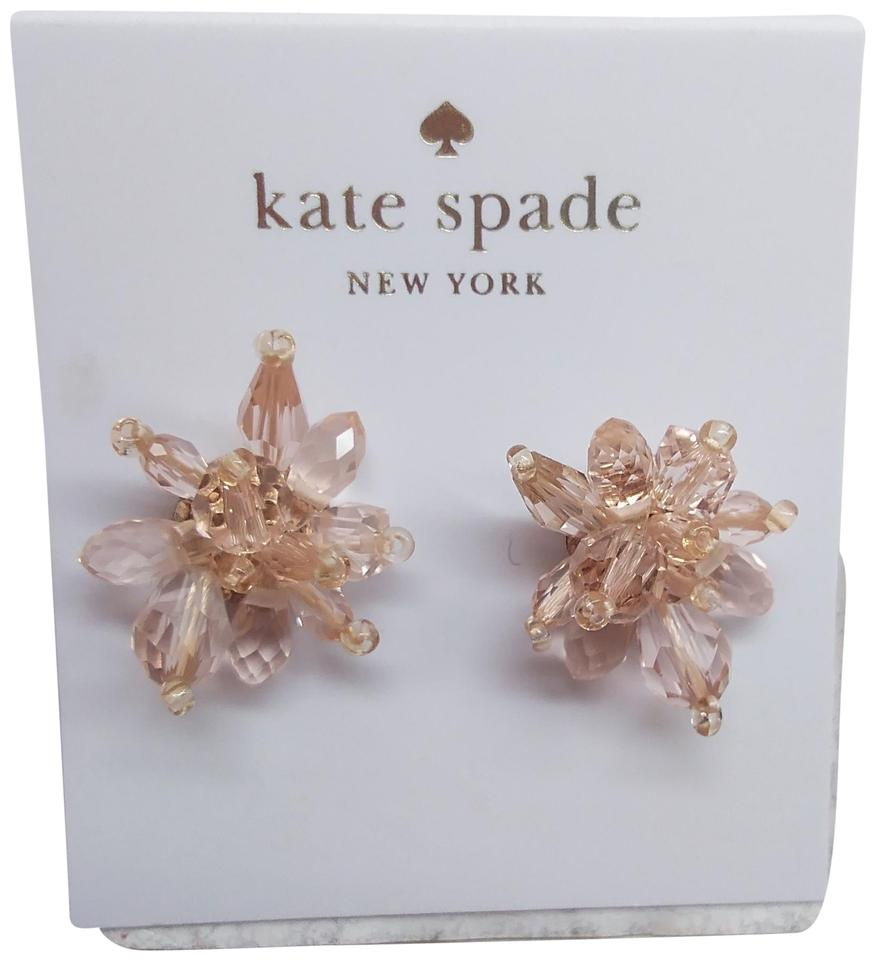 Kate Spade Pale Pink Candy New Rock Flower Earrings 24 Off Retail