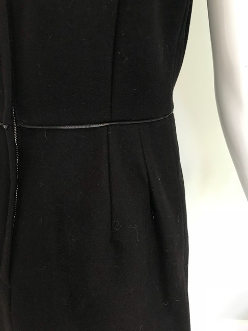 Adam Lippes Black Trimmed In Leather Mid-length Work/Office Dress Size 6 (S) Adam Lippes Black Trimmed In Leather Mid-length Work/Office Dress Size 6 (S) Image 5