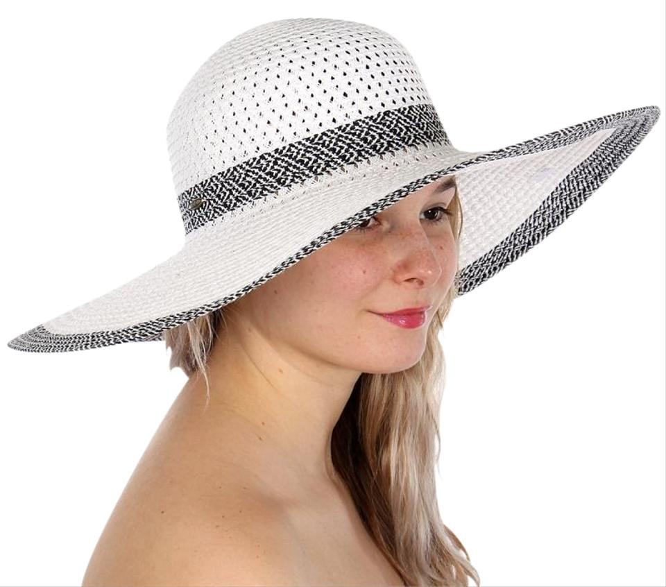 885b45d5d White New Woven Band Large Floppy Hat