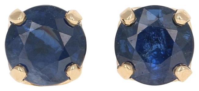 Wilson Brothers Jewelry Yellow New 1.84ctw Round Cut Sapphire 14k Gold Studs E4540 Earrings Wilson Brothers Jewelry Yellow New 1.84ctw Round Cut Sapphire 14k Gold Studs E4540 Earrings Image 1