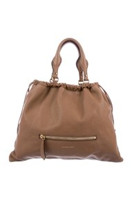 Burberry Leather Big Crush Tote in Tan