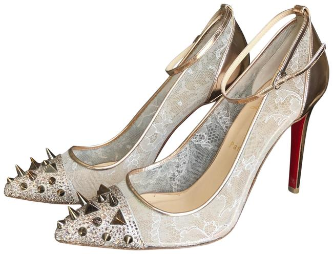 Christian Louboutin Rosegold Picks and Co Strass Pumps Size EU 39 (Approx. US 9) Narrow (Aa, N) Christian Louboutin Rosegold Picks and Co Strass Pumps Size EU 39 (Approx. US 9) Narrow (Aa, N) Image 1