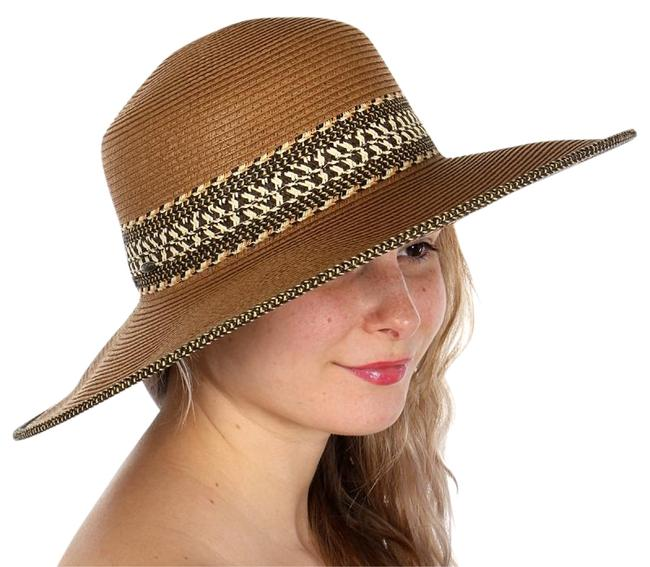 Item - Brown New Boho Tribal Print Floppy Hat