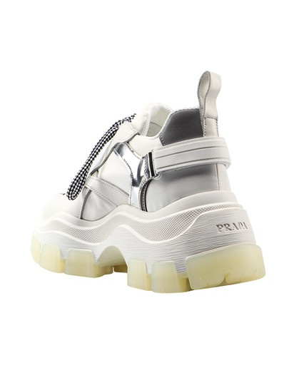 Prada Sneaker 1e586l.3kzl White Athletic Image 1