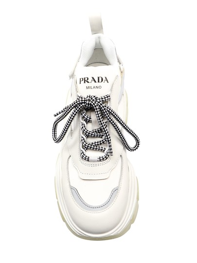 Prada Sneaker 1e586l.3kzl White Athletic Image 2