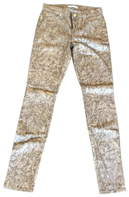 Item - Brown & Gold Coated Ru0041272a041213 Skinny Jeans Size 2 (XS, 26)