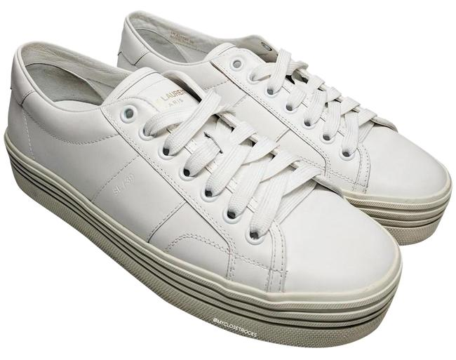 Item - White Court Classic Platform Women Sneakers Size US 8 Regular (M, B)