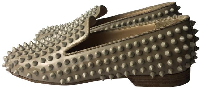 Christian Louboutin Beige Rolling Spikes Patent Leather Loafers Flats Size EU 35.5 (Approx. US 5.5) Regular (M, B) Christian Louboutin Beige Rolling Spikes Patent Leather Loafers Flats Size EU 35.5 (Approx. US 5.5) Regular (M, B) Image 1