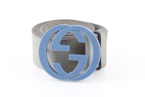 Gucci Gucci Suede Signature Interlocking G Buckle