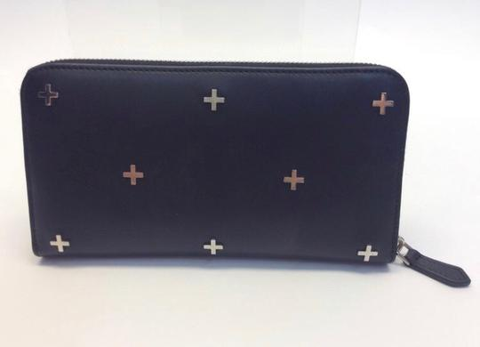 Givenchy Givenchy Black Leather Cross Detail ZIP Wallet NIB Image 2