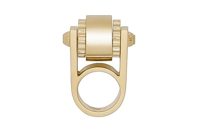 Item - Gold Women's Large Luxury Cylinder Size: 6 328005 Ring