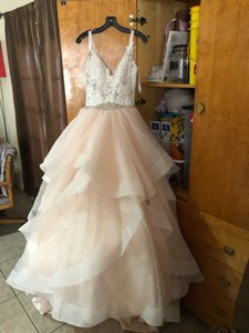 Allure Bridals Blush Ball Gown By Feminine Wedding Dress Size 6 (S)