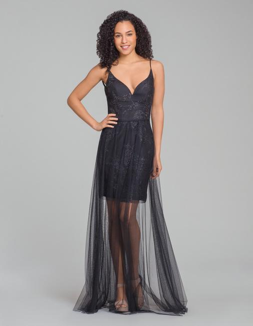 Item - Black Tulle and Sequins 5865 Modern Bridesmaid/Mob Dress Size 10 (M)