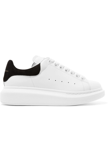Item - Suede-trimmed Leather Exaggerated-sole Sneakers Size EU 40 (Approx. US 10) Regular (M, B)
