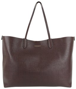 Alexander McQueen Leather Xl Lino Tote in Burgundy