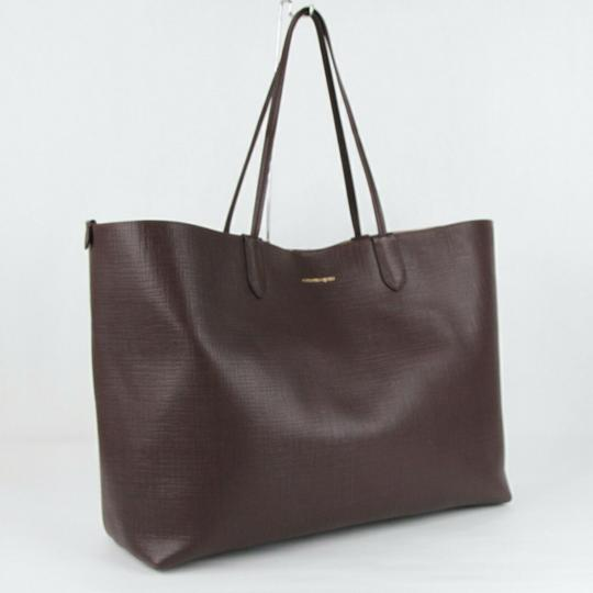 Alexander McQueen Leather Xl Lino Tote in Burgundy Image 1