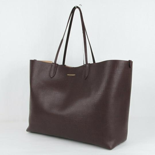 Alexander McQueen Leather Xl Lino Tote in Burgundy Image 2