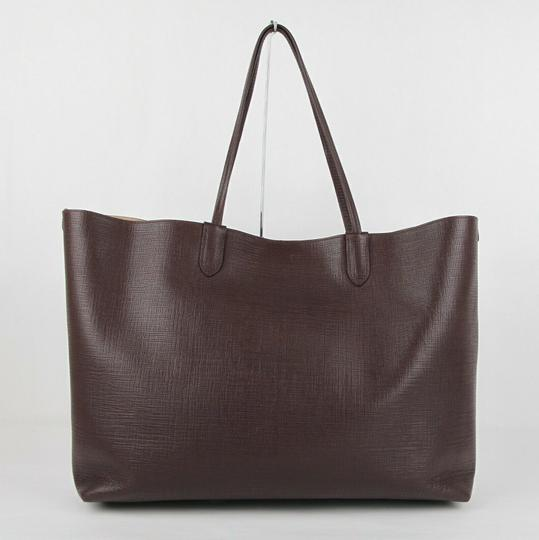 Alexander McQueen Leather Xl Lino Tote in Burgundy Image 3