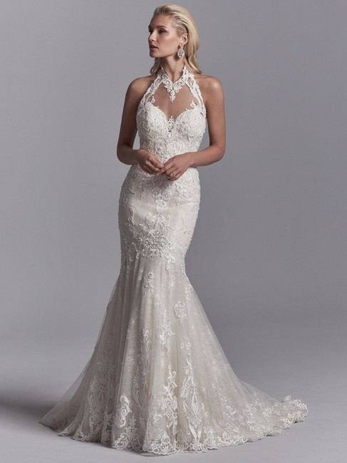 Item - Ivory Over Champagne Lace 8st534 Sexy Wedding Dress Size 20 (Plus 1x)