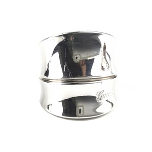 Gucci NEW GUCCI Bamboo Sterling Silver Ring, 6-3/4 US
