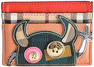 Burberry Burberry Red Monster Appliqué Leather Card Case