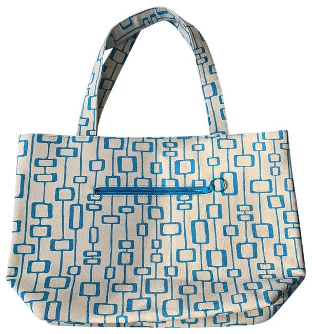 Item - Bag Beige and Blue Canvas Tote