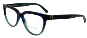 Burberry BE2268-3677-51 Cat Eye Women's Blue Havana Frame Clear Lens Eyeglasses