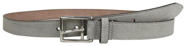 Item - Gray New Suede Leather Silver Buckle 95/38 368193 1417 Belt