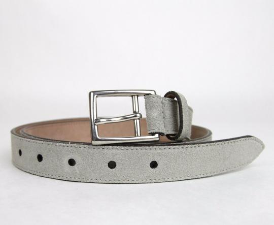 Gucci New Gucci Suede Leather Belt Silver Buckle 95/38 368193 1417 Image 2