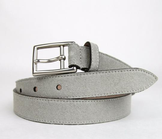 Gucci New Gucci Suede Leather Belt Silver Buckle 95/38 368193 1417 Image 3