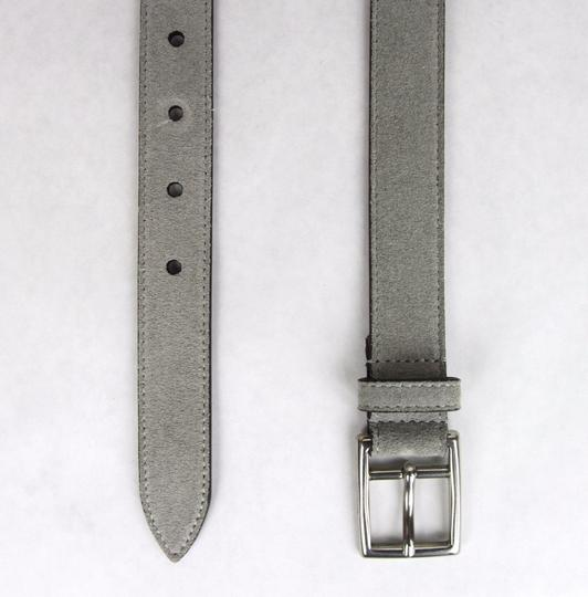 Gucci New Gucci Suede Leather Belt Silver Buckle 95/38 368193 1417 Image 4