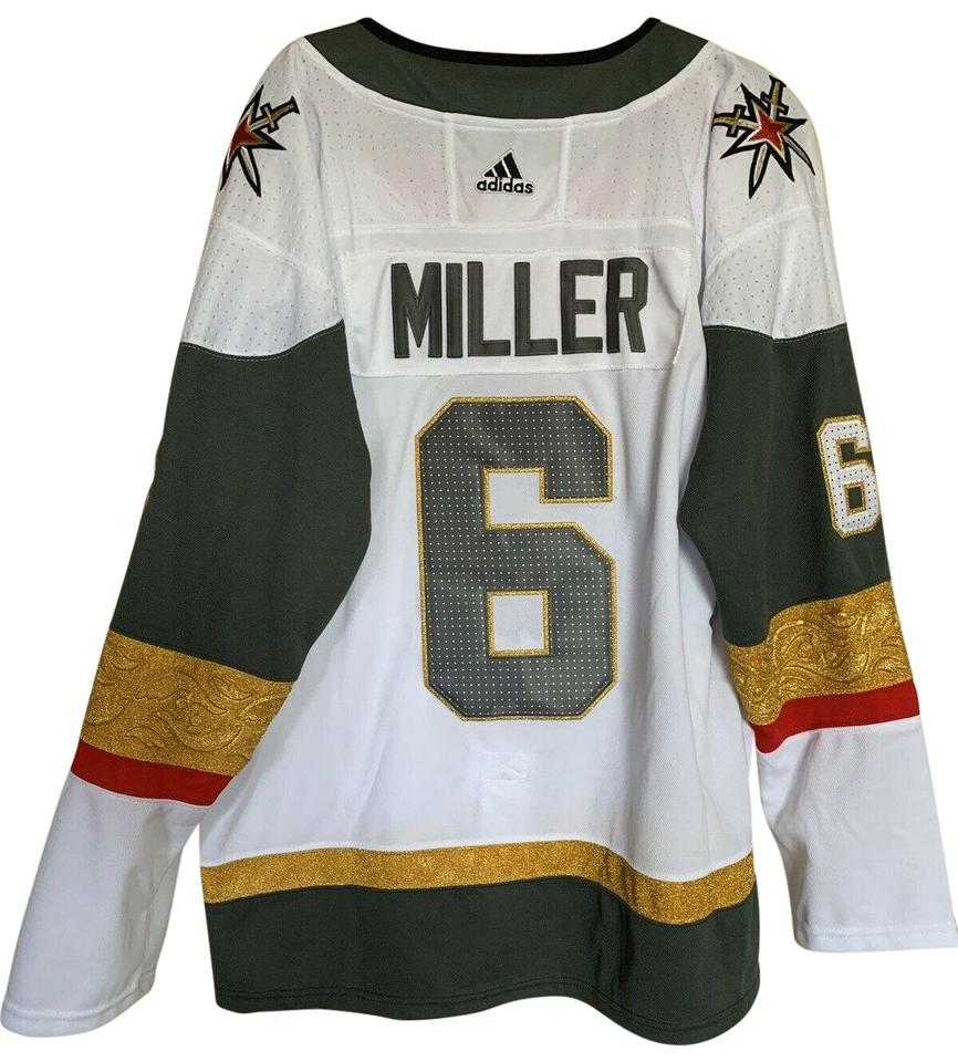 hot sale online e6322 49bef White Vegas Golden Knights Colin Miller 6 Away Jersey Large Activewear Top  Size 14 (L) 74% off retail
