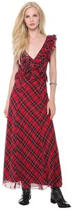 Red Plaid Maxi Dress by Free People