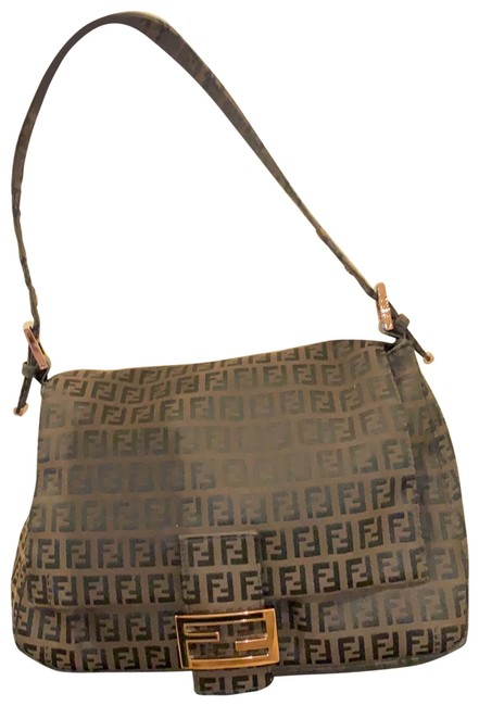 Item - Zucca Mama Forever Brown with Rose Gold Finishing Canvas Shoulder Bag