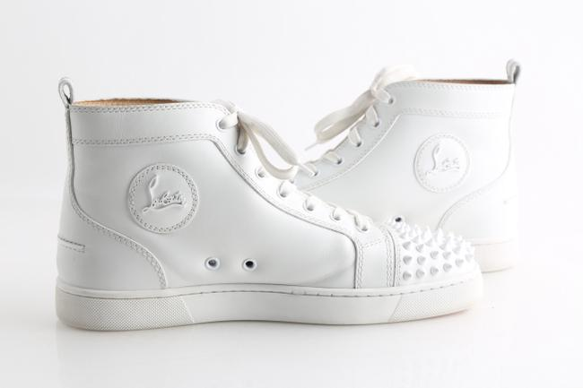 Item - White Spiked Sneakers Shoes
