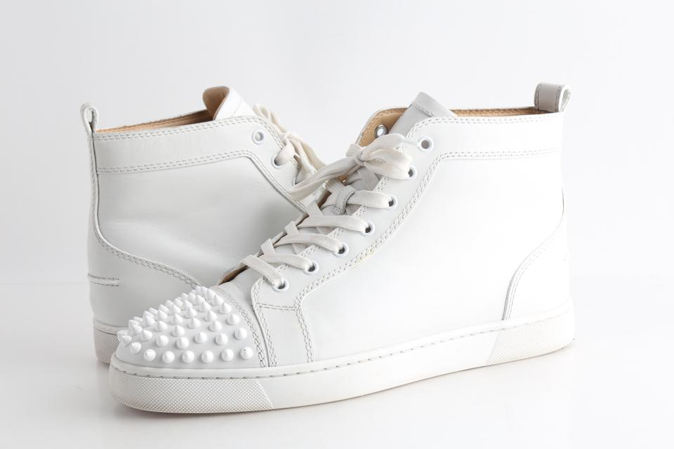 White Spiked Sneakers Shoes