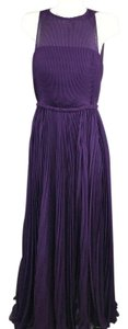 Purple Maxi Dress by Fame and Partners Gown Maxi Pleated