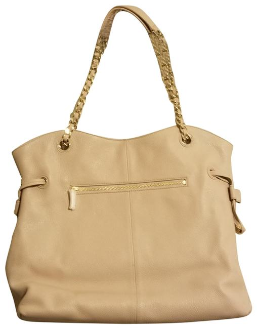 Item - With Metallic Chain Light Pink Leather Tote
