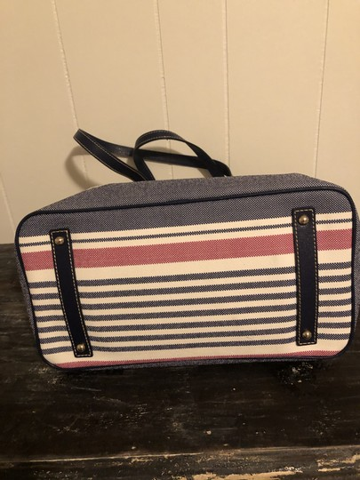 Dooney & Bourke Tote in Red, white, blue Image 4