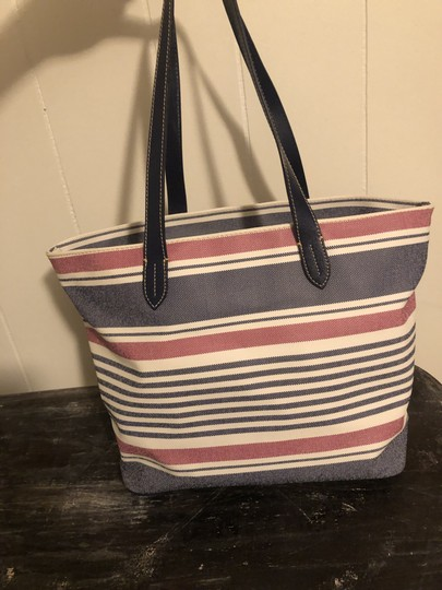 Dooney & Bourke Tote in Red, white, blue Image 5