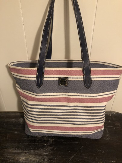 Dooney & Bourke Tote in Red, white, blue Image 6