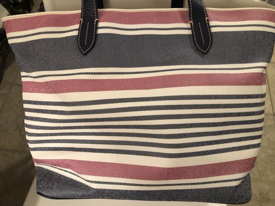 Dooney & Bourke Tote in Red, white, blue Image 7