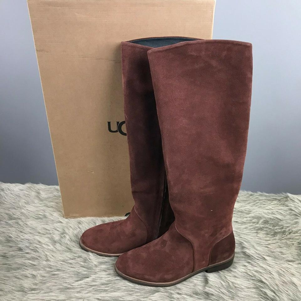 432402c81dd UGG Australia Mahogany Daley Tall Suede Leather Riding Boots/Booties Size  US 6.5 Regular (M, B)