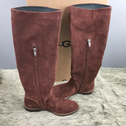 UGG Australia Daley Tall Suede Mahogany Boots Image 3