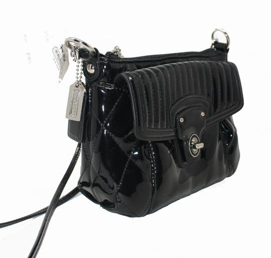 Coach 46585 Patent Leather Liquid Gloss Mini New With Cross Body Bag Image 1