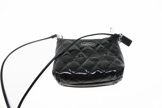 Coach 46585 Patent Leather Liquid Gloss Mini New With Cross Body Bag Image 3