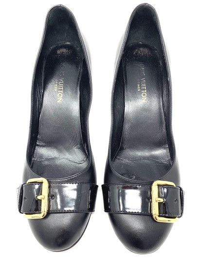 Preload https://img-static.tradesy.com/item/25774801/louis-vuitton-black-buckle-leather-pumps-size-eu-375-approx-us-75-regular-m-b-0-1-540-540.jpg