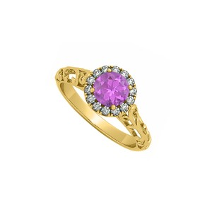 Marco B Filigree Halo Engagement Ring with Blue Amethyst and CZ